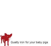Quality iron for your baby pigs